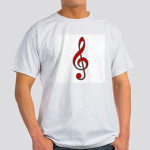 Musical RED Ash Grey T-Shirt